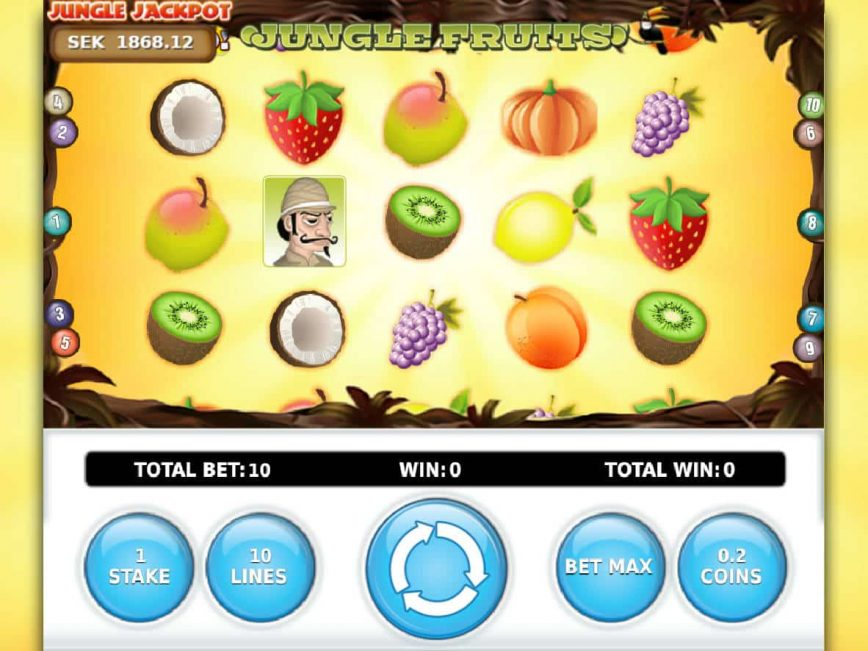 A picture of the Jungle Fruits online slot