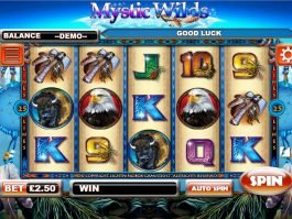 Casino slot game Mystic Wilds