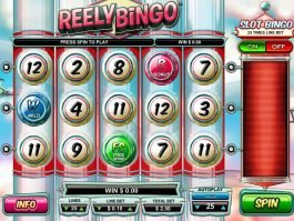 A picture of the casino slot machine Reely Bingo