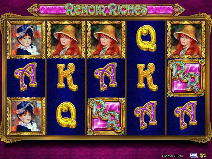 A picture of the casino slot machine Renoir Riches