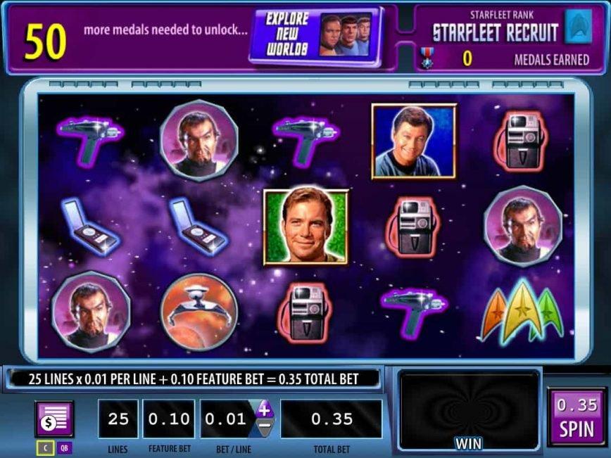 Spin free slot machine Star Trek - Red Alert