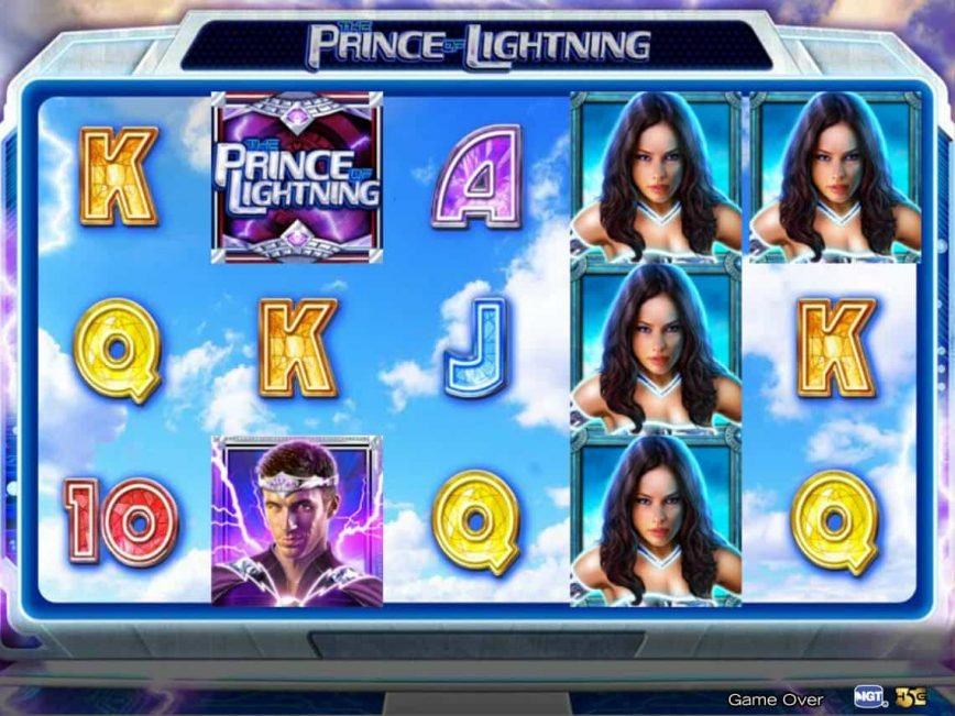 A picture of the online slot game The Prince of Lightning