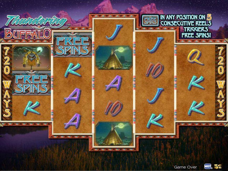 Thundering Buffalo Slot Machine Play Free Online Game Slotu Com