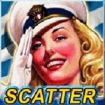 Scatter-Symbol des Spielautomaten Navy Girl von Casino Technology