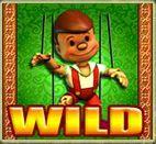Wild symbol of Pinocchio's Fortune casino slot