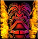 Symbol wild of Tiki Torch online slot game