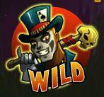 Wild symbol of Voodoo Vibes casino slot machine