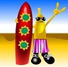 Das Bonus-Symbol des kostenlosen Crazy Fruits Online-Automatenspiels von Atronic