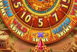 Das Bonusrad-Feature des Pyramid of the Sun Casino-Spielautomaten