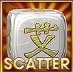 Scatter szimbólum a Rolling Dice online casino játékból
