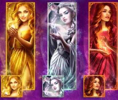 Wild symbols of online slot Magic Queens