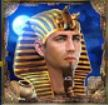 Symbol wild of casino slot game Pharaohs and Aliens