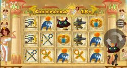 Slot machine with no registration Cleopatra 18+