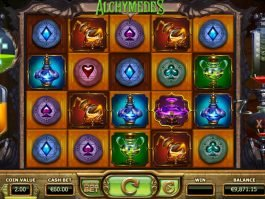Casino slot game Alchymedes for fun