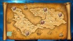 Treasure map of Hunt for Gold online slot machine