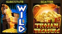 Special symbols of Trojan Treasure casino free game