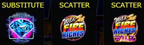 Special symbol of Wild Fire Riches free slot game