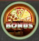 Bonus symbol of Huge Pizza casino slot game