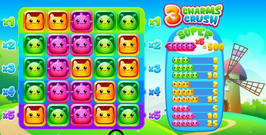 Play free slot machine 3 Charms Crush