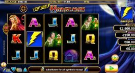 Casino slot game Lightning Horseman for fun