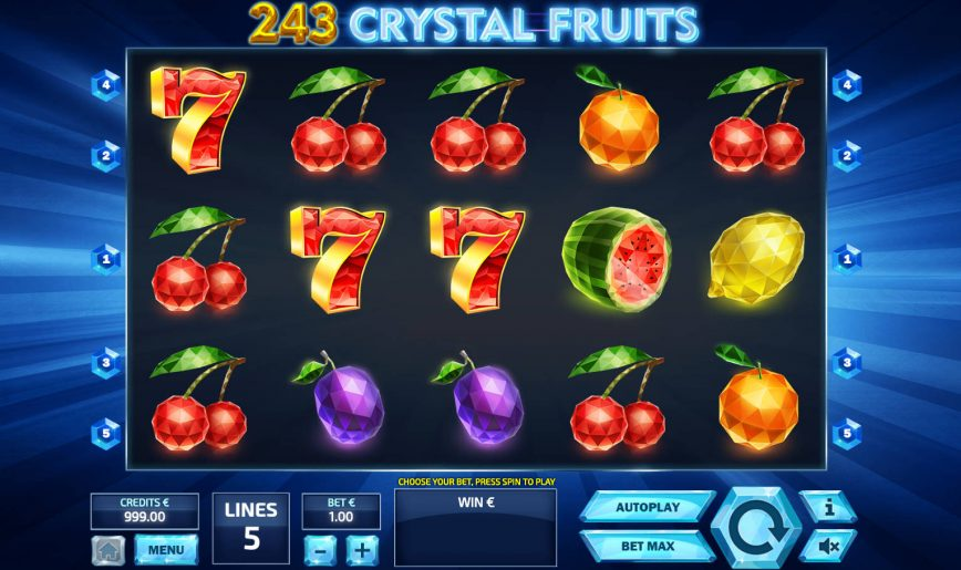 Spiele 243 Crystal Fruits - Video Slots Online