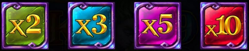 Wild Multipliers of casino slot machine Crystal Clans for fun