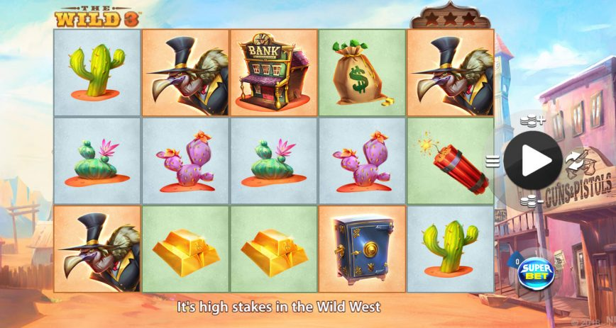 The Wild 3 online free slot game