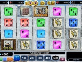 A picture of the slot game 100 Dice