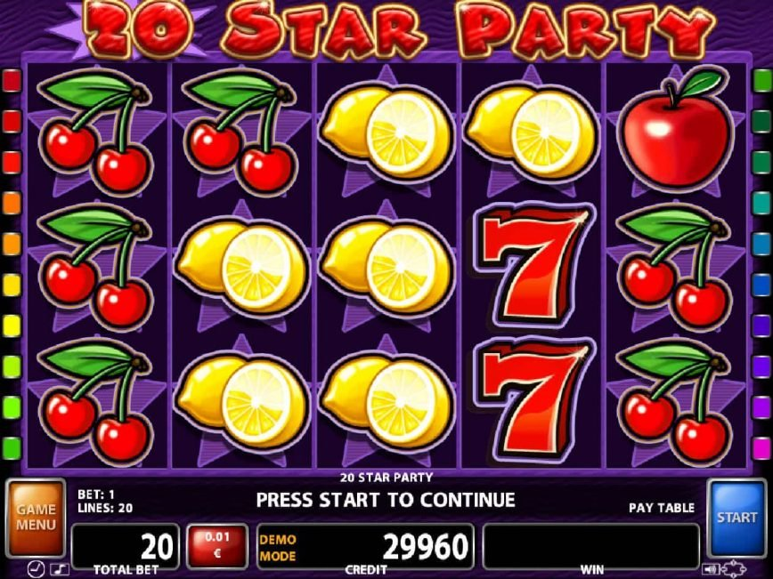 Online free slot game 20 Star Party