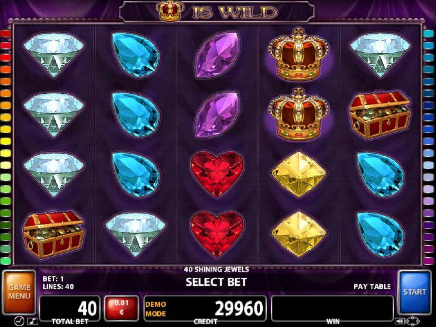 40 Shining Jewels free casino game for fun