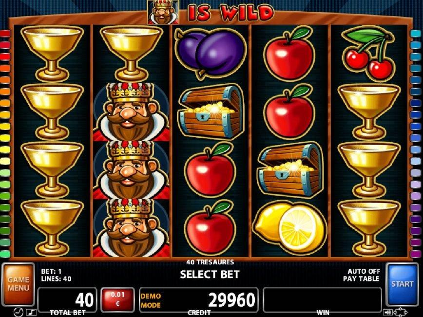 Slot machine for fun 40 Treasures