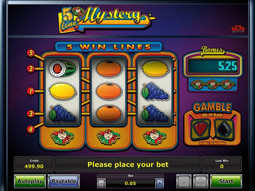 A picture of the slot game 5 Line Mystery