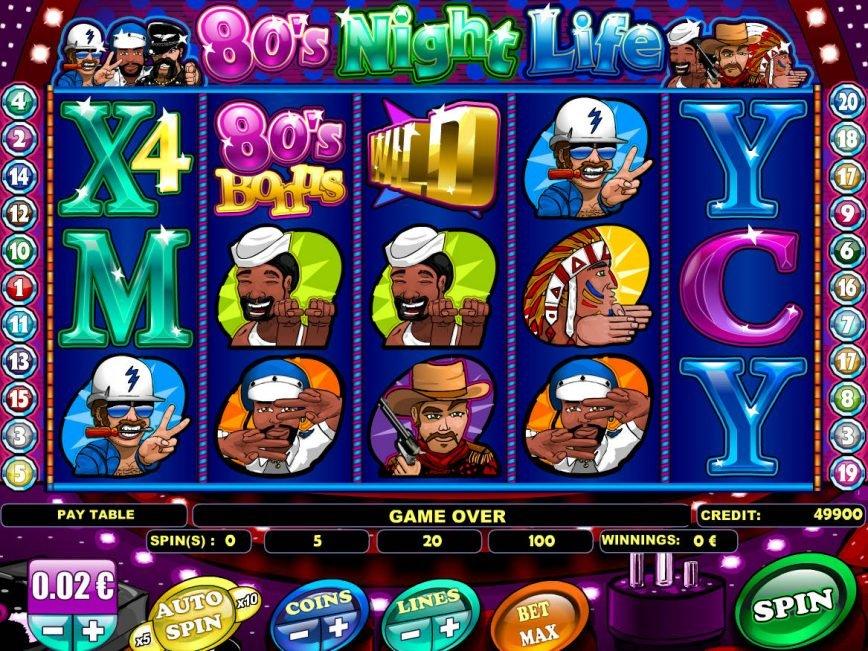 80´s Night Life casino slot machine for free