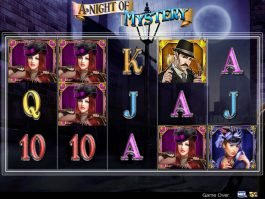 A picture of the slot game A Night of Mystery
