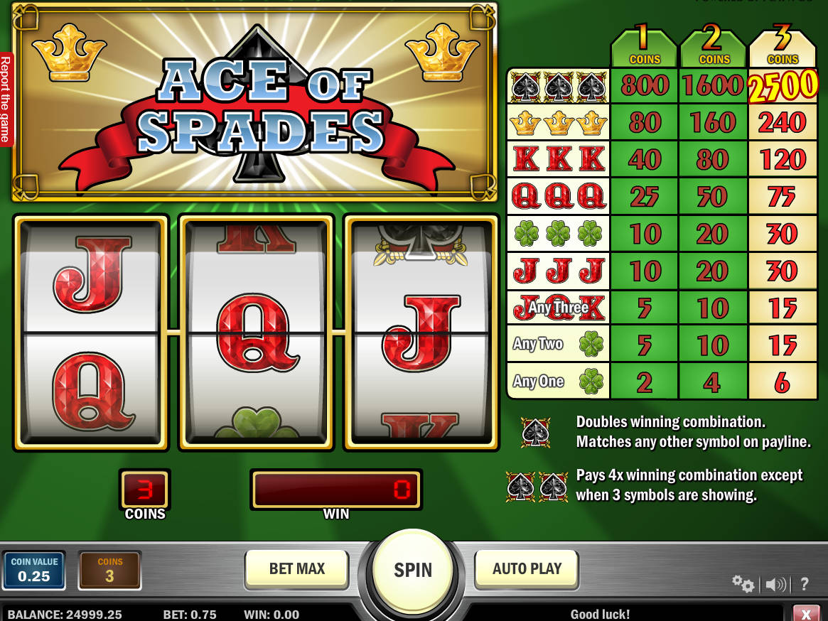 Ace Of Spades Game Free Online