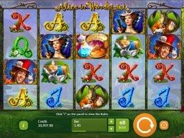 Alice in Wonderslots slot machine for fun