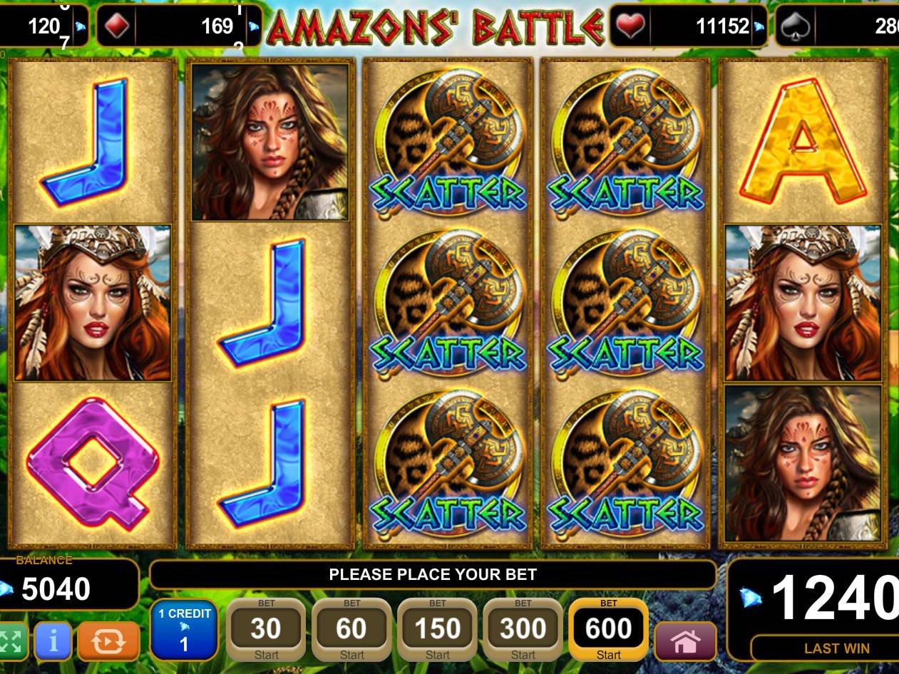 Amazons Battle Slot Machine