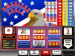 A picture of the casino slot machine American Eagle