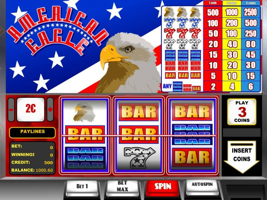 A picture of the casino slot machine American Eagle