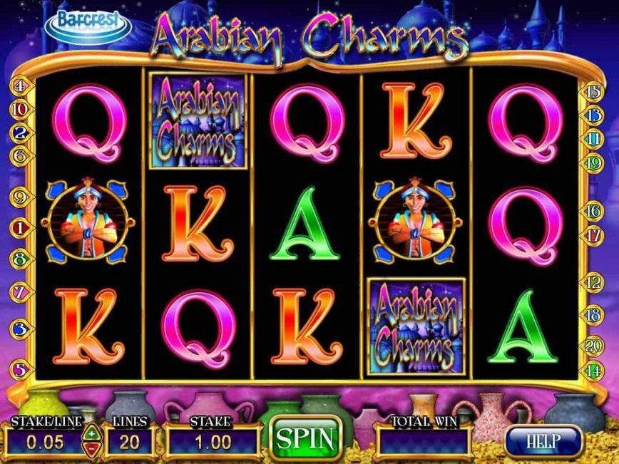 Slot machine for fun Arabian Charms