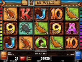 Free slot machine Australian Magic no deposit