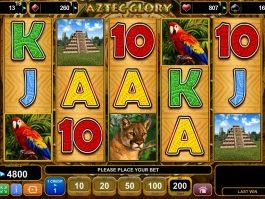 No deposit game Aztec Glory online