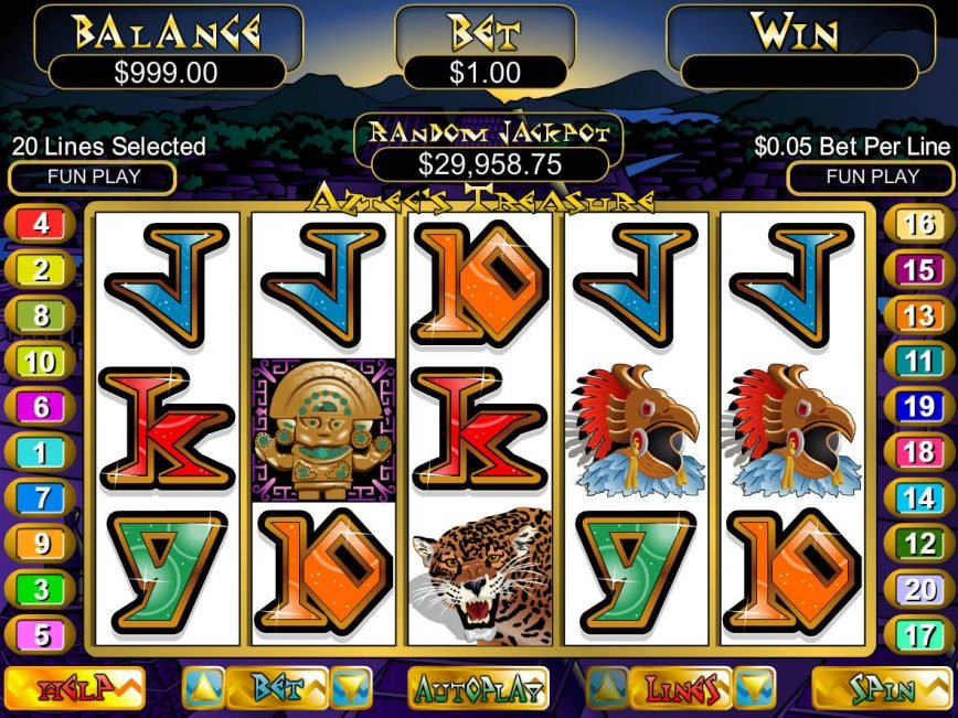Casino slot game Aztec´s Treasure no deposit