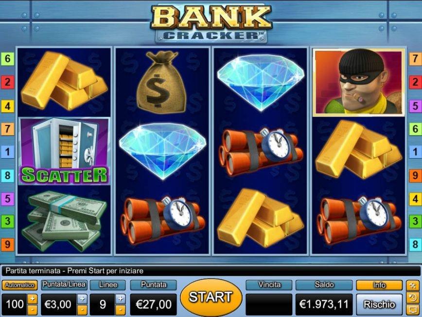 Casino slot machine Bank Cracker