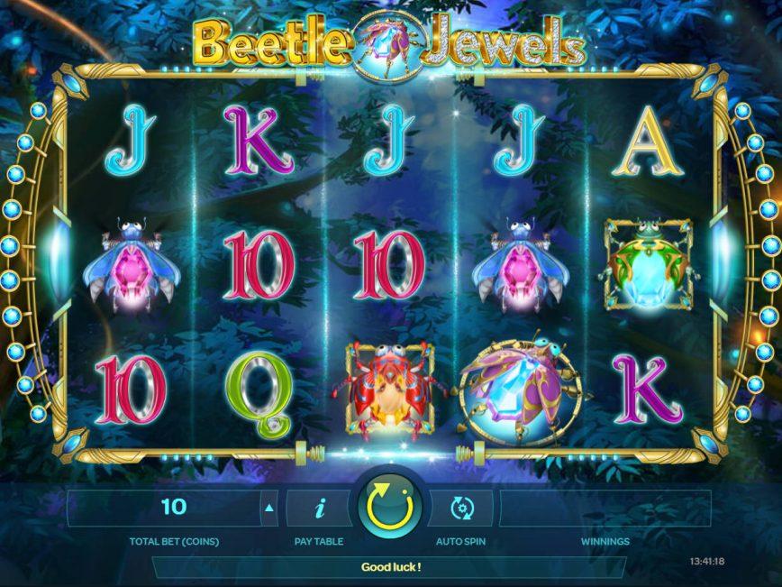 Play slot machine Beetle Jewels no deposit