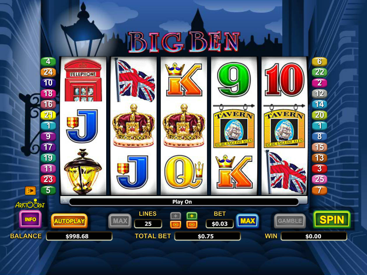 PLAY Big Ben FOR REAL MONEY AT: