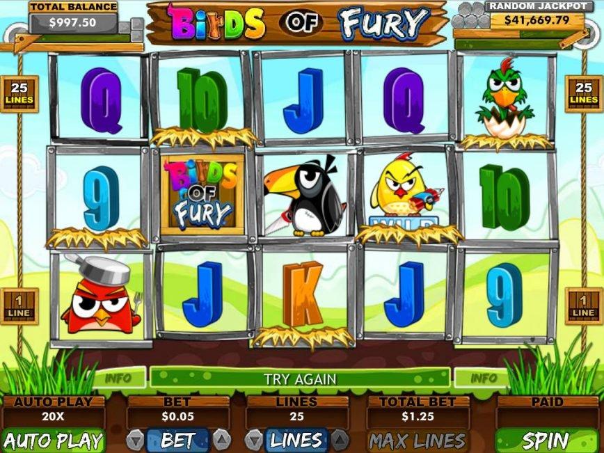 Free online game Birds of Fury