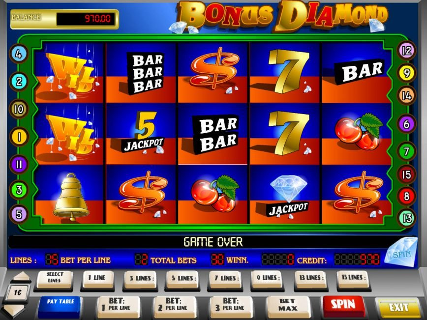 Play casino online slot game Bonus Diamond