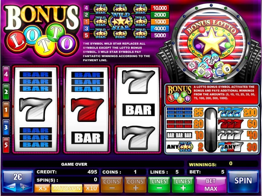 An image of Bonus Lotto online casino game