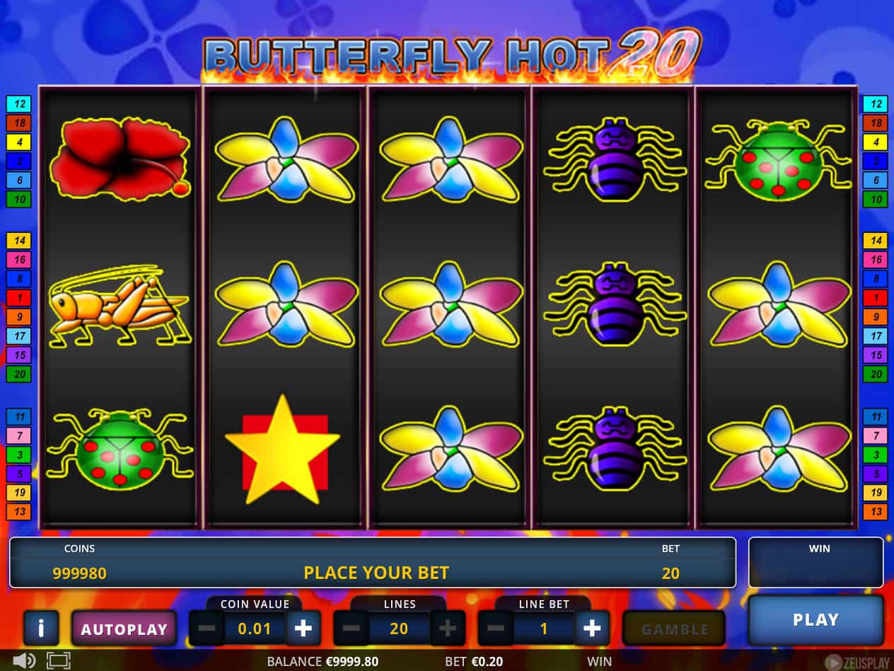 Butterfly Hot 20 Slot Machine Play Free Online Game